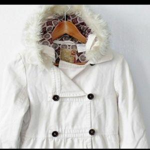Billabong canvas fur hood pea coat